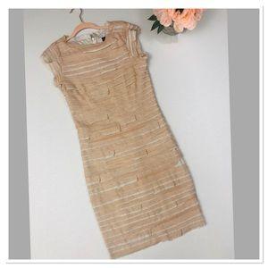Robert Rodriguez silk midi dress with tiered panel